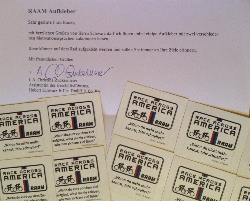 RAAM RD - 1 Team – 1 Goal – Race Across America RAAM 2016 – We Win.